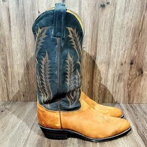 Tony Lama, brown leather Cowboy boots